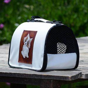 کیف حمل سگ و گربه و طوطی سانان مدل چرمی | پرشین پت لند