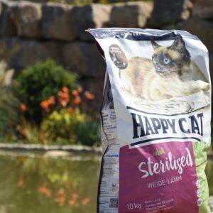 غذای خشک گربه بالغ هپی کت حاوی گوشت بره استریل شده وزن 10 کیلوگرم | پرشین پت لند