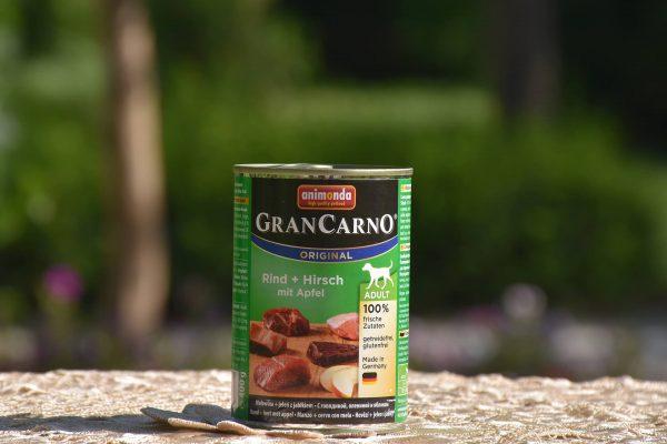 کنسرو سگ بالغ گرن کارنو حاوی گوشت گاو ،گوشت گوزن و سیب 400 گرمی | ایران چکاوک